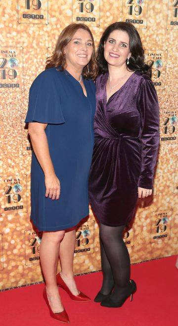 Maggie Greene  and Tracey O Brien pictured at the Irish Cinema Ball 2019 in aid of the Irish Cinematograph Trade Benevolent Fund (ICTBF ) at The Shelbourne Hotel, Dublin This year's theme was the iconic 'Studio 54'. Pic: Brian McEvoy.