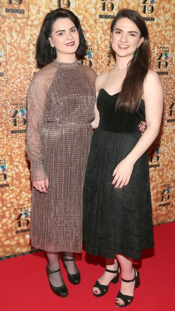 Katie Walsh and Amy Walsh pictured at the Irish Cinema Ball 2019 in aid of the Irish Cinematograph Trade Benevolent Fund (ICTBF ) at The Shelbourne Hotel, Dublin This year's theme was the iconic 'Studio 54'. Pic: Brian McEvoy.