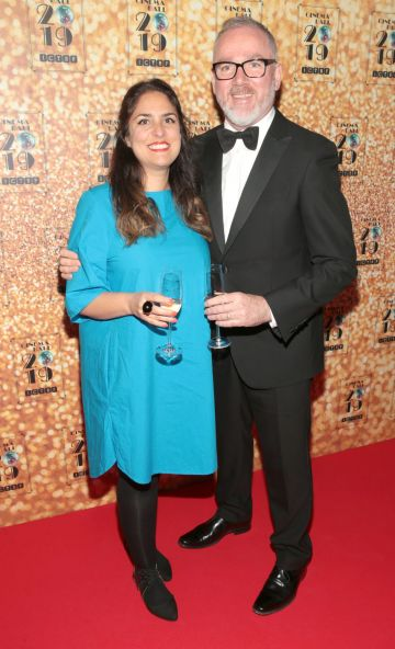 Jenny Sharif and Nick Costello pictured at the Irish Cinema Ball 2019 in aid of the Irish Cinematograph Trade Benevolent Fund (ICTBF ) at The Shelbourne Hotel, Dublin This year's theme was the iconic 'Studio 54'. Pic: Brian McEvoy.