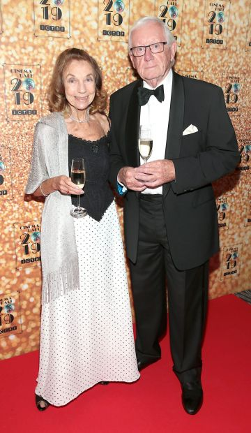 Sheila Hamson and Seamis Smith pictured at the Irish Cinema Ball 2019 in aid of the Irish Cinematograph Trade Benevolent Fund (ICTBF ) at The Shelbourne Hotel, Dublin This year's theme was the iconic 'Studio 54'. Pic: Brian McEvoy.