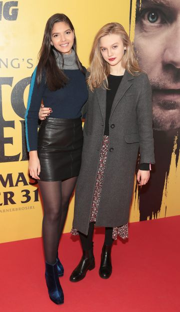 Raia Ne Borgess and Kerri Patten at the special preview screening of Doctor Sleep at the Light House Cinema, Dublin. Pic: Brian McEvoy.