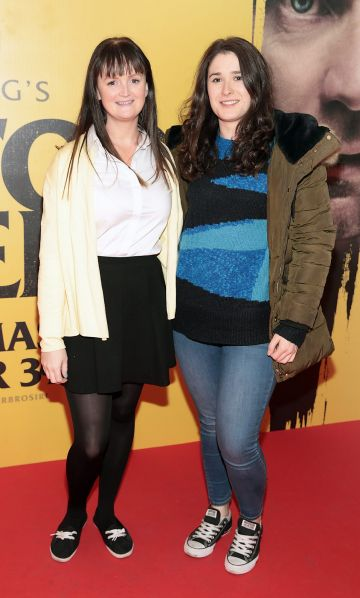 Claire Twyford and Emma Walsh at the special preview screening of Doctor Sleep at the Light House Cinema, Dublin. Pic: Brian McEvoy.