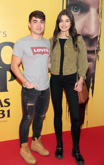 Leo Morgan and Niamh Dunne at the special preview screening of Doctor Sleep at the Light House Cinema, Dublin. Pic: Brian McEvoy.