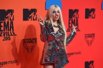 Ava Max attends the MTV EMAs 2019 at FIBES Conference and Exhibition Centre on November 03, 2019 in Seville, Spain. (Photo by Kate Green/Getty Images for MTV)