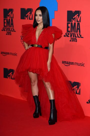 Becky G attends the MTV EMAs 2019 at FIBES Conference and Exhibition Centre on November 03, 2019 in Seville, Spain. (Photo by Kate Green/Getty Images for MTV)