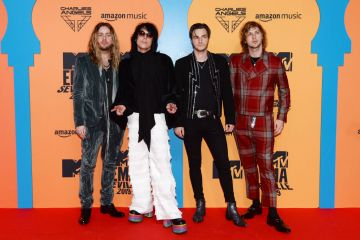 'The Struts' Adam Slack, Luke Spiller, Jed Elliott and Gethin Davies attends the MTV EMAs 2019 at FIBES Conference and Exhibition Centre on November 03, 2019 in Seville, Spain. (Photo by Kate Green/Getty Images for MTV)