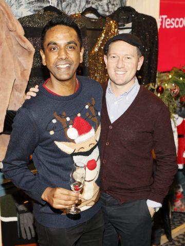 Clint Drieberg and David Mitchell at the Tesco 2019 Christmas Showcase in Dublin's Iveagh Garden Hotel.   Photo: Kieran Harnett