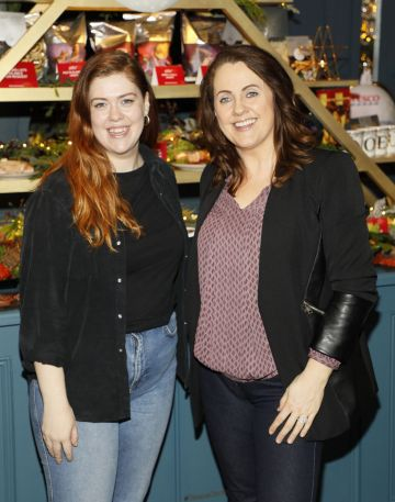 Orlaith Condon and Ruth Scott at the Tesco 2019 Christmas Showcase in Dublin's Iveagh Garden Hotel.   Photo: Kieran Harnett