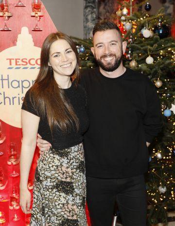 Paula Lyne and David O'Shaughnessy at the Tesco 2019 Christmas Showcase in Dublin's Iveagh Garden Hotel.   Photo: Kieran Harnett