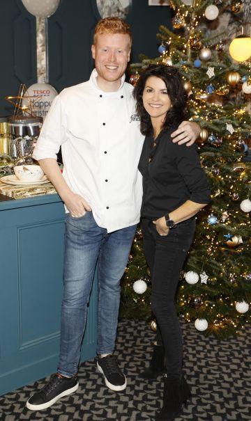 Mark Moriarty and Deirdre O'Kane at the Tesco 2019 Christmas Showcase in Dublin's Iveagh Garden Hotel.   Photo: Kieran Harnett