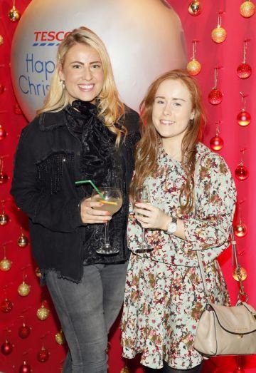 Nicola Halloran and Lauren Murphy at the Tesco 2019 Christmas Showcase in Dublin's Iveagh Garden Hotel.   Photo: Kieran Harnett