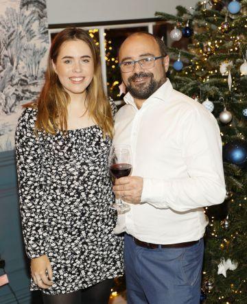 Sorcha O'Connor and Barra McFeely at the Tesco 2019 Christmas Showcase in Dublin's Iveagh Garden Hotel.   Photo: Kieran Harnett