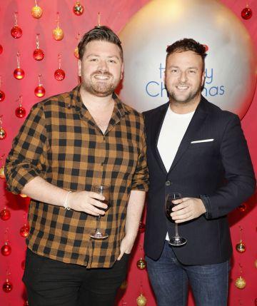 Thomas Cross and Wayne Lawlor at the Tesco 2019 Christmas Showcase in Dublin's Iveagh Garden Hotel. Photo: Kieran Harnett