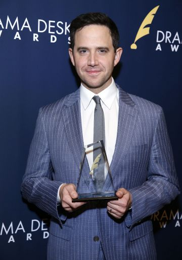 "NEW YORK, NEW YORK - JUNE 02: Santino Fontana, winner of Outstanding Actor in a Musical for ""Tootsie"", attends 2019 Drama Desk Awards at HB Burger on June 2, 2019 in New York City. (Photo by John Lamparski/Getty Images)"