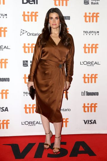 "TORONTO, ONTARIO - SEPTEMBER 09: Idina Menzel attends the ""Uncut Gems""premiere during the 2019 Toronto International Film Festival at Princess of Wales Theatre on September 09, 2019 in Toronto, Canada. (Photo by Tasos Katopodis/Getty Images)"