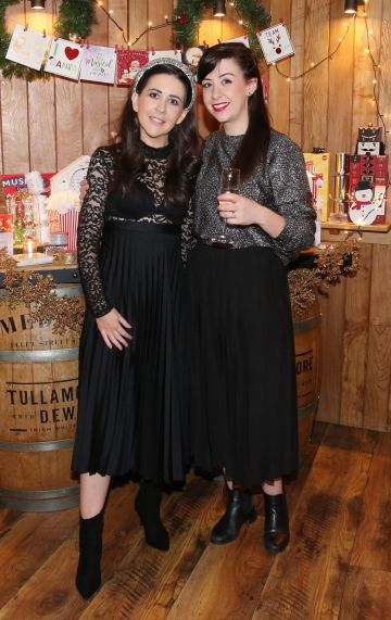 Shoshannah Wood & Laura Doyle pictured at the Aldi Amazing Christmas Showcase 2019.  Photograph: Leon Farrell / Photocall Ireland
