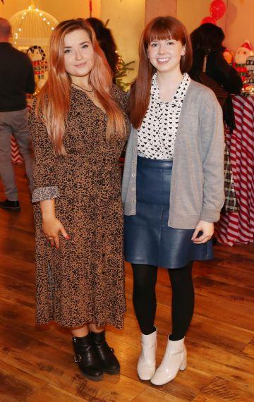 Emma Costello and Kayla Walsh pictured at the Aldi Amazing Christmas Showcase 2019. Photograph: Leon Farrell / Photocall Ireland