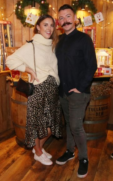 Sarah Hanrahan and Cathal Kenny pictured at the Aldi Amazing Christmas Showcase 2019. Photograph: Leon Farrell / Photocall Ireland