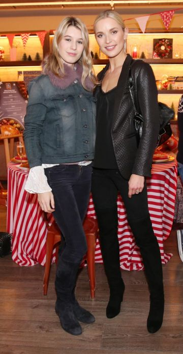 Joanne Northey and Teo Sutra pictured at the Aldi Amazing Christmas Showcase 2019. Photograph: Leon Farrell / Photocall Ireland