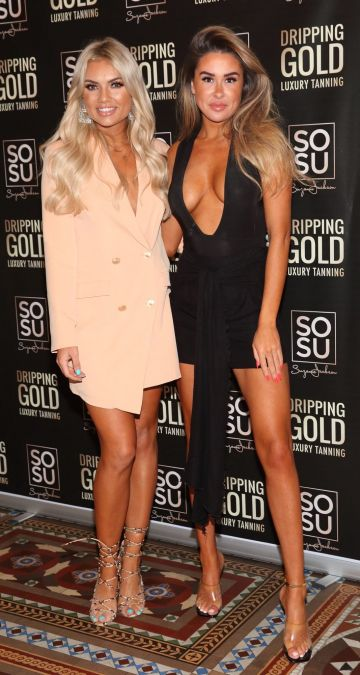 Sinead Hegarty and Lacey Montgomery pictured at the launch the SOSU by Suzanne Jackson 20 piece Christmas Gift Set Collection at the Westin Hotel, Dublin. Pic: Brian McEvoy Photography