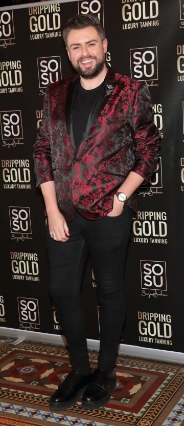 James Patrice pictured at the launch the SOSU by Suzanne Jackson 20 piece Christmas Gift Set Collection at the Westin Hotel, Dublin. Pic: Brian McEvoy Photography