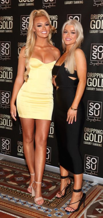 Andrea Rooney and Sian Walton  pictured at the launch the SOSU by Suzanne Jackson 20 piece Christmas Gift Set Collection at the Westin Hotel, Dublin. Pic: Brian McEvoy Photography