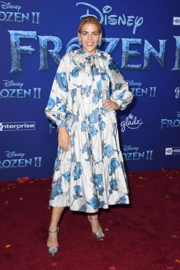 """US actress Busy Philipps arrives for Disney's World Premiere of """"Frozen 2"""" at the Dolby theatre in Hollywood on November 7, 2019. (Photo by VALERIE MACON/AFP via Getty Images)"""