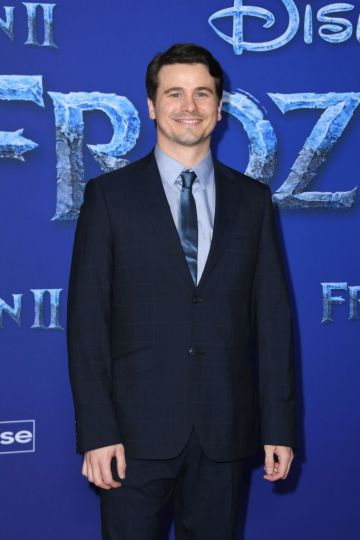 """US actor Jason Ritter arrives for Disney's World Premiere of """"Frozen 2"""" at the Dolby theatre in Hollywood on November 7, 2019. (Photo by VALERIE MACON/AFP via Getty Images)"""