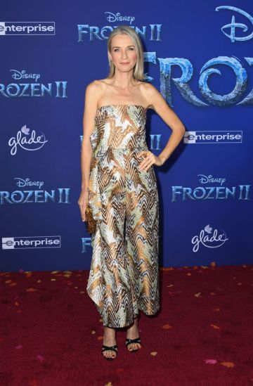 """US actress Ever Carradine arrives for Disney's World Premiere of """"Frozen 2"""" at the Dolby theatre in Hollywood on November 7, 2019. (Photo by VALERIE MACON/AFP via Getty Images)"""