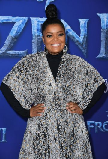 """US actress Yvette Nicole Brown arrives for Disney's World Premiere of """"Frozen 2"""" at the Dolby theatre in Hollywood on November 7, 2019. (Photo by VALERIE MACON/AFP via Getty Images)"""