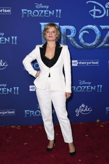 """US actress Martha Plimpton arrives for Disney's World Premiere of """"Frozen 2"""" at the Dolby theatre in Hollywood on November 7, 2019. (Photo by VALERIE MACON/AFP via Getty Images)"""