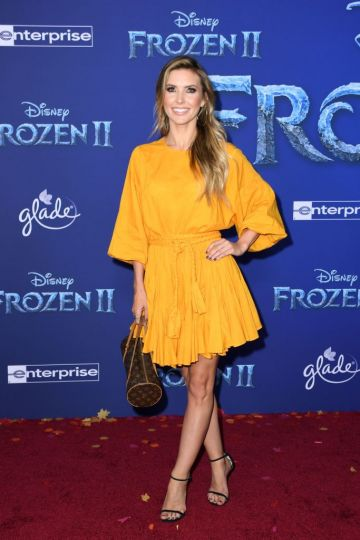 """US television personality Audrina Partridge arrives for Disney's World Premiere of """"Frozen 2"""" at the Dolby theatre in Hollywood on November 7, 2019. (Photo by VALERIE MACON/AFP via Getty Images)"""