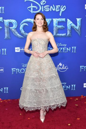 """Evan Rachel Wood attends the premiere of Disney's """"Frozen 2"""" at Dolby Theatre on November 07, 2019 in Hollywood, California. (Photo by Amy Sussman/Getty Images)"""