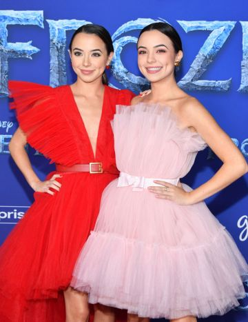 """Veronica Merrell and Vanessa Merrell attend the premiere of Disney's """"Frozen 2"""" at Dolby Theatre on November 07, 2019 in Hollywood, California. (Photo by Amy Sussman/Getty Images)"""