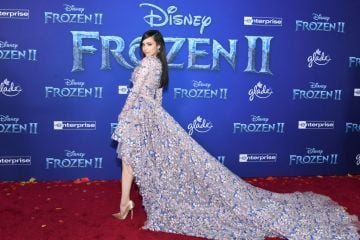 """Sofia Carson attends the premiere of Disney's """"Frozen 2"""" at Dolby Theatre on November 07, 2019 in Hollywood, California. (Photo by Amy Sussman/Getty Images)"""