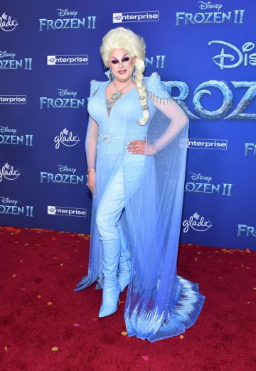 """Nina West attends the premiere of Disney's """"Frozen 2"""" at Dolby Theatre on November 07, 2019 in Hollywood, California. (Photo by Amy Sussman/Getty Images)"""