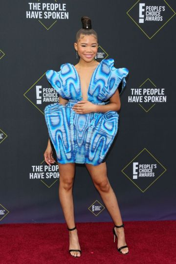 US actress Storm Reid arrives for the 45th annual E! People's Choice Awards at Barker Hangar in Santa Monica, California. (Photo by JEAN-BAPTISTE LACROIX/AFP via Getty Images)