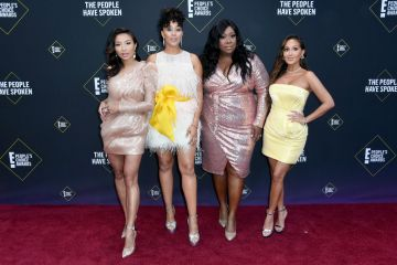 Jeannie Mai, Tamera Mowry-Housley, Loni Love and Adrienne Houghton attends the 2019 E! People's Choice Awards at Barker Hangar on November 10, 2019 in Santa Monica, California. (Photo by Frazer Harrison/Getty Images)