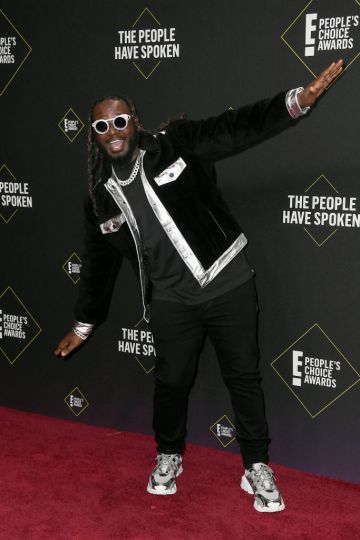 T-Pain attends the 2019 E! People's Choice Awards at Barker Hangar on November 10, 2019 in Santa Monica, California. (Photo by Frazer Harrison/Getty Images)