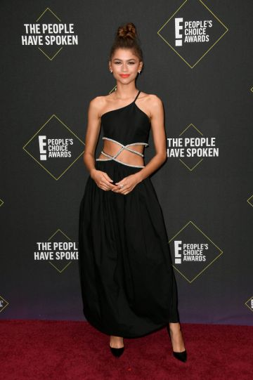 Zendaya attends the 2019 E! People's Choice Awards at Barker Hangar on November 10, 2019 in Santa Monica, California. (Photo by Frazer Harrison/Getty Images)