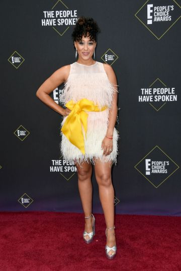Tamera Mowry-Housley attends the 2019 E! People's Choice Awards at Barker Hangar on November 10, 2019 in Santa Monica, California. (Photo by Frazer Harrison/Getty Images)
