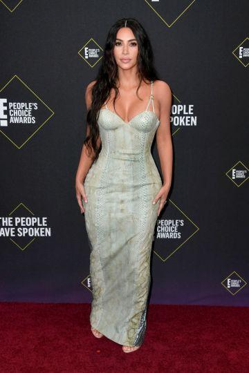 Kim Kardashian attends the 2019 E! People's Choice Awards at Barker Hangar on November 10, 2019 in Santa Monica, California. (Photo by Frazer Harrison/Getty Images)