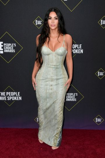 Kim Kardashian attends the 2019 E! People's Choice Awards at Barker Hangar on November 10, 2019 in Santa Monica, California. (Photo by Frazer Harrison/Getty Images)