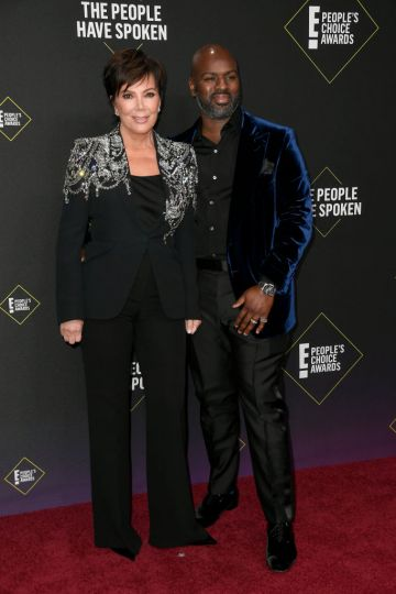 Kris Jenner and Corey Gamble attend the 2019 E! People's Choice Awards at Barker Hangar on November 10, 2019 in Santa Monica, California. (Photo by Frazer Harrison/Getty Images)