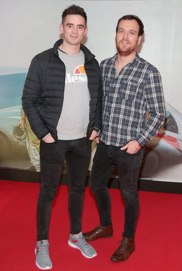 Peter Collins and Alex Doyle pictured at the special preview screening of Le Mans '66 at Cineworld, Dublin. Photo: Brian McEvoy.