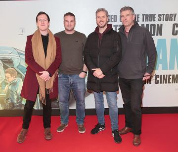 Shane Moloney,Martin Lynch,Darren McCoy and Bernard McGranaghan pictured at the special preview screening of Le Mans '66 at Cineworld, Dublin. Photo: Brian McEvoy.