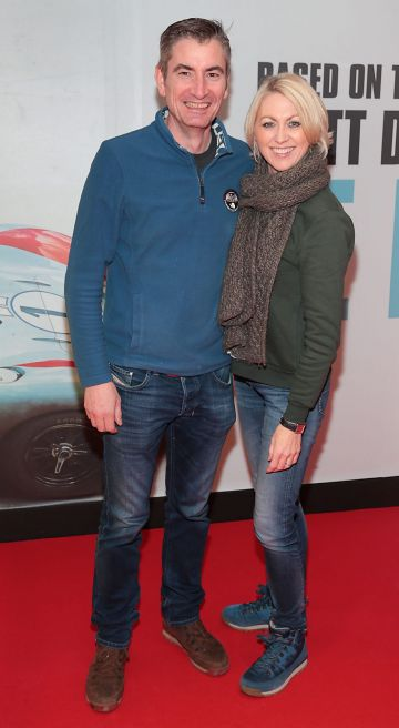 George Fourneau and Olivia Fourneau pictured at the special preview screening of Le Mans '66 at Cineworld, Dublin. Photo: Brian McEvoy.
