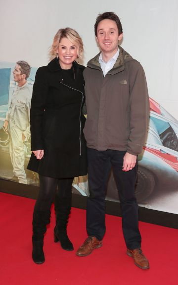 Niamh Martin and Conor Martin pictured at the special preview screening of Le Mans '66 at Cineworld, Dublin. Photo: Brian McEvoy.