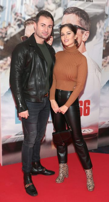Bogdan Petric and Natalia Petric pictured at the special preview screening of Le Mans '66 at Cineworld, Dublin. Photo: Brian McEvoy.
