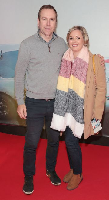 Ian Beatty and Sharon Beatty pictured at the special preview screening of Le Mans '66 at Cineworld, Dublin. Photo: Brian McEvoy.